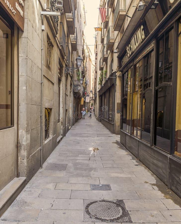 Calle vieja en el cuarto gótico fotografía de archivo