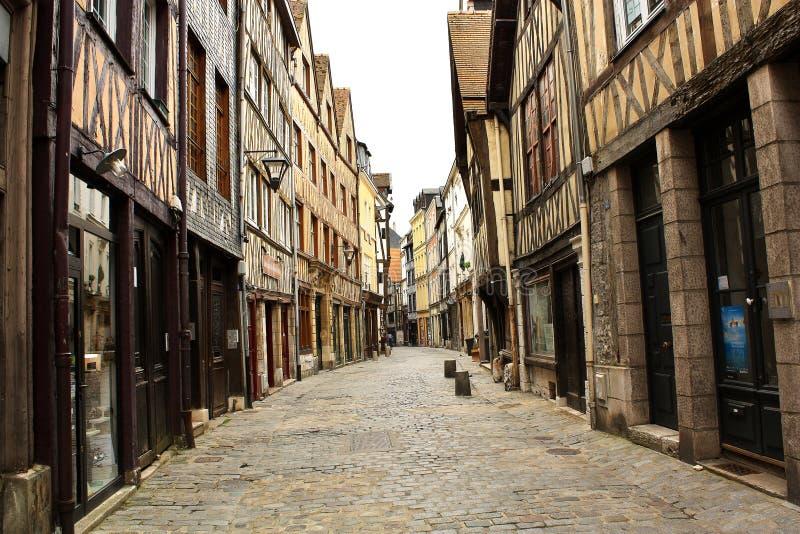 Calle vieja en la Ruán foto de archivo libre de regalías