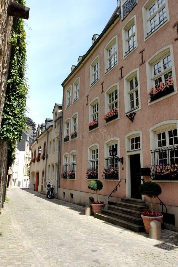 Calle vieja en Luxemburgo fotos de archivo libres de regalías