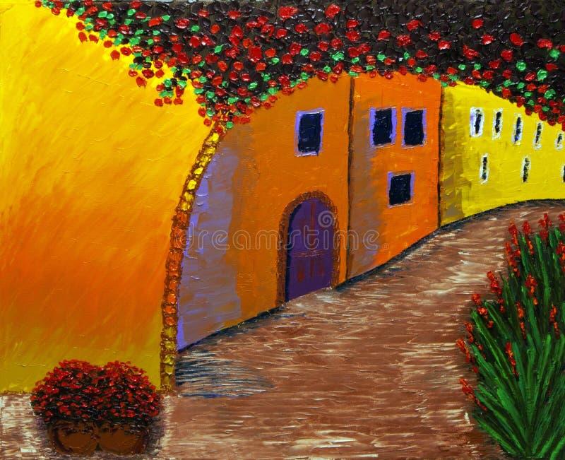 Calle vieja francesa de la ciudad libre illustration