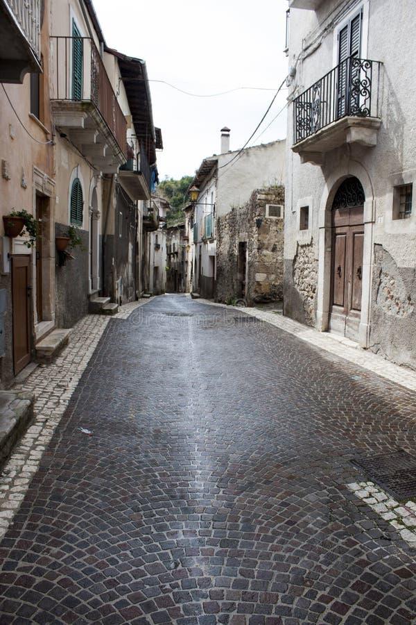 Calle vieja italiana de la ciudad foto de archivo
