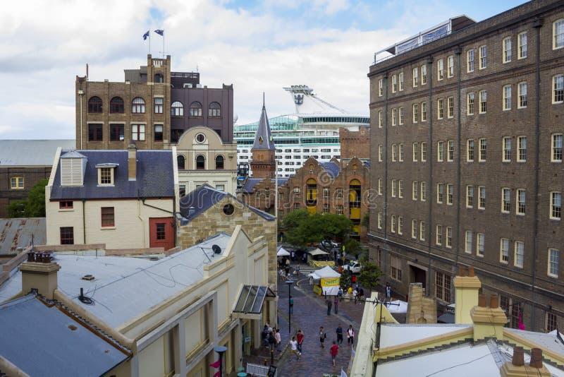 Calle y edificios, visión aérea de Sydney foto de archivo libre de regalías
