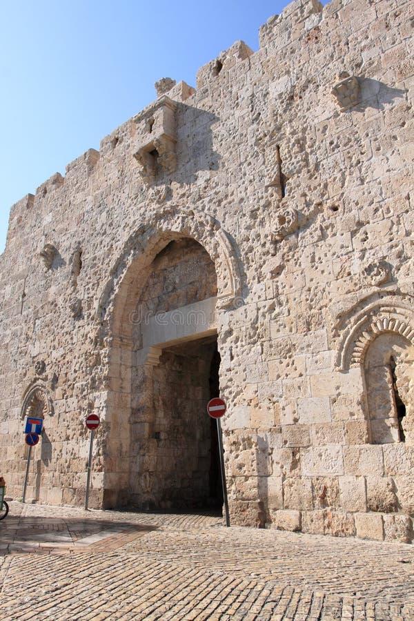 Callejón antiguo en el cuarto judío, Jerusale imágenes de archivo libres de regalías