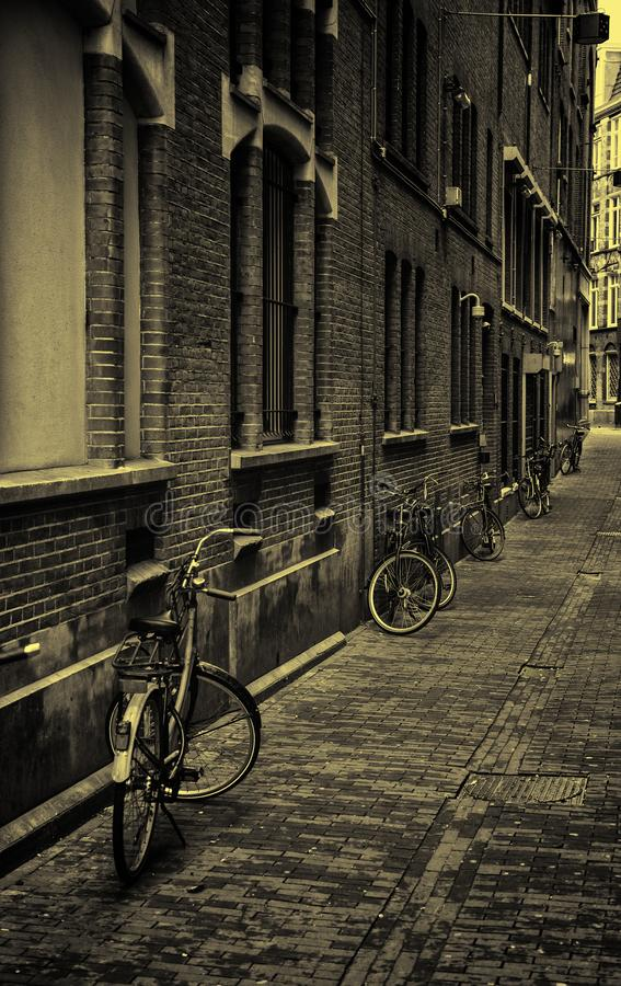 Callejón de Amsterdam fotografía de archivo libre de regalías