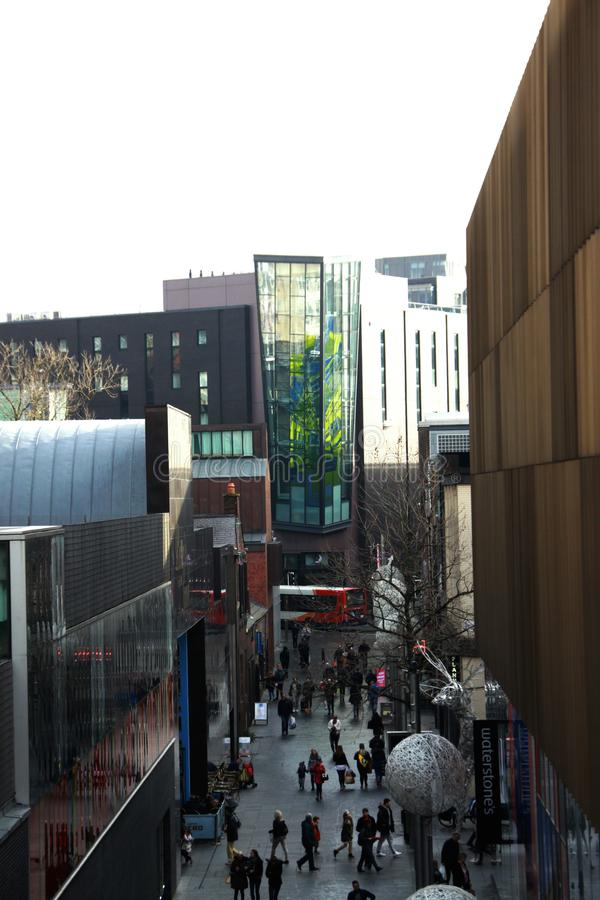 Callejón de las compras de Liverpool imagen de archivo libre de regalías