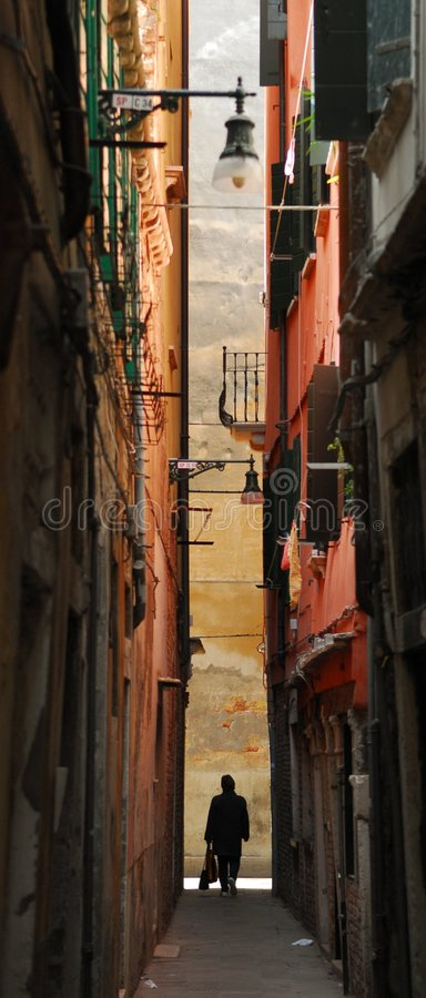 Callejón de Venecia fotografía de archivo libre de regalías