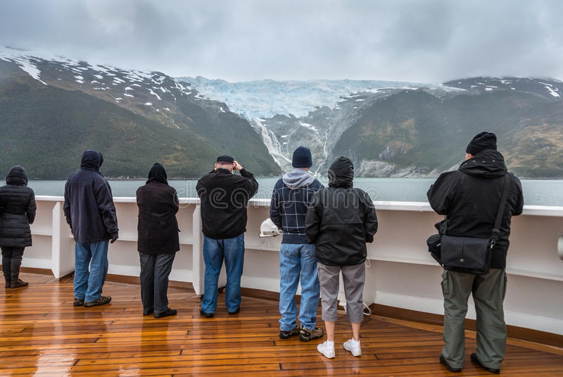 Callejón del glaciar, canal del beagle, Chile imagen de archivo libre de regalías