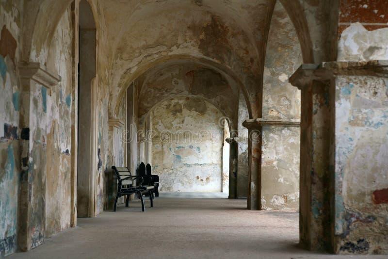 Callejón en la fortaleza de San Christobal foto de archivo