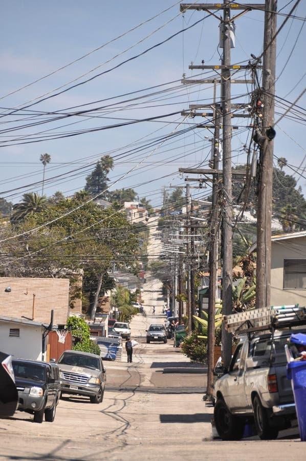 Callejón en San Diego fotografía de archivo