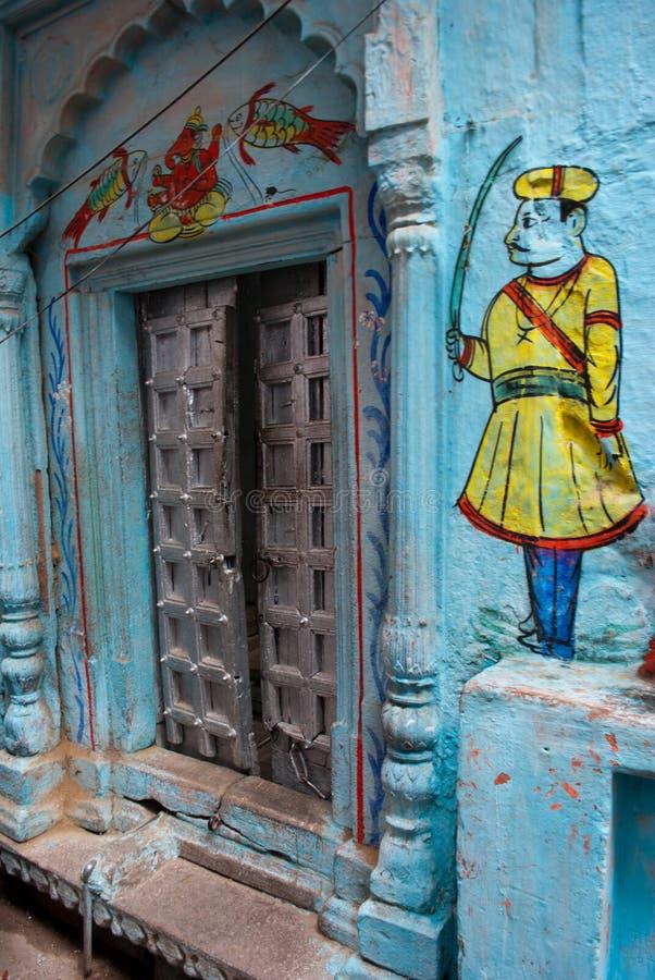 Callejón en Varanasi imagen de archivo libre de regalías
