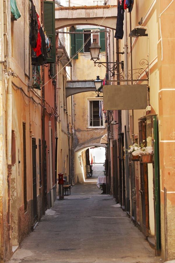 Callejón italiano fotografía de archivo