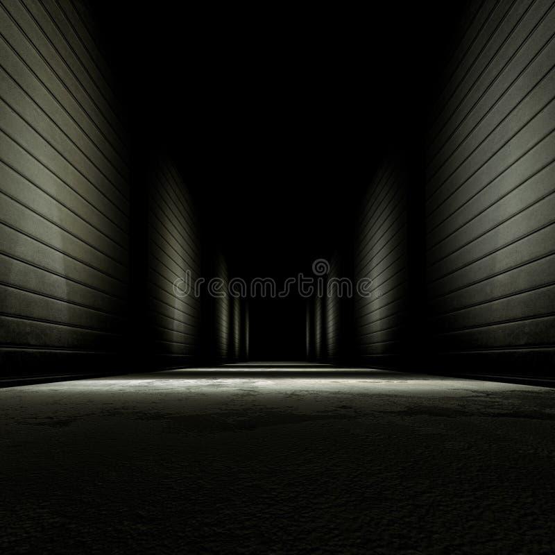 Callejón oscuro ilustración del vector