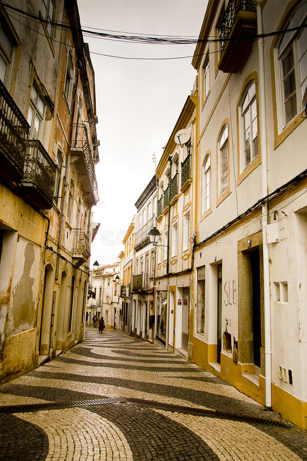 Callejón Portalegre Portugal foto de archivo