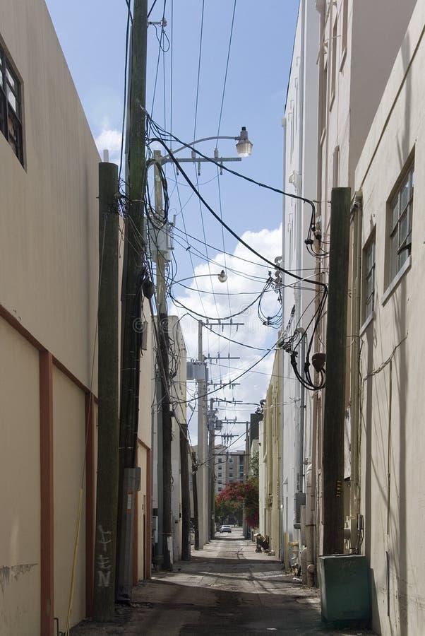 Callejón urbano imagen de archivo libre de regalías