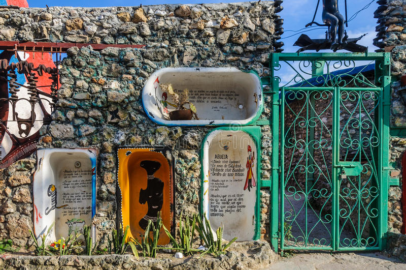 Callejon de Hamel στην Αβάνα, Κούβα στοκ φωτογραφίες