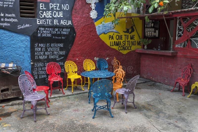 Callejon De Hamel, Hawański, Kuba obraz royalty free