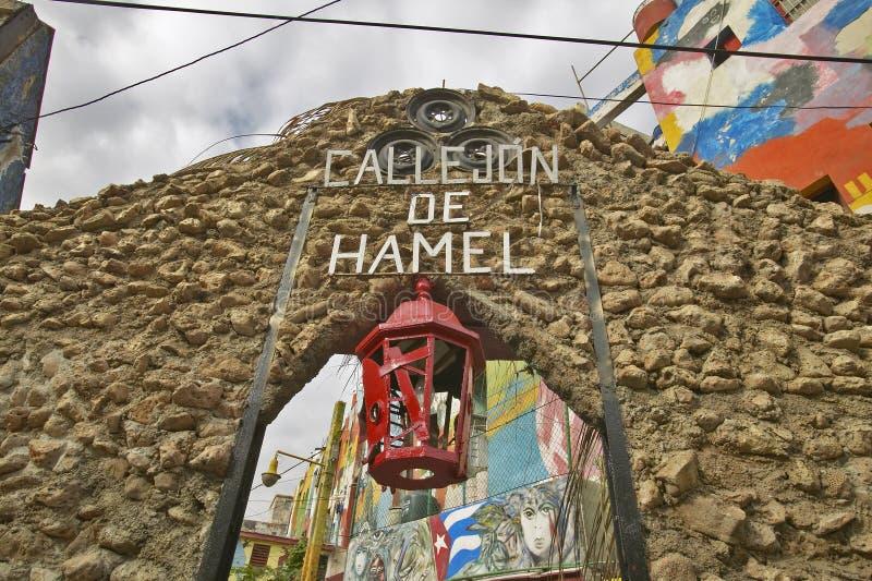 Callejon De Hamel sztuka i muzyka okręg Hawański Kuba fotografia stock
