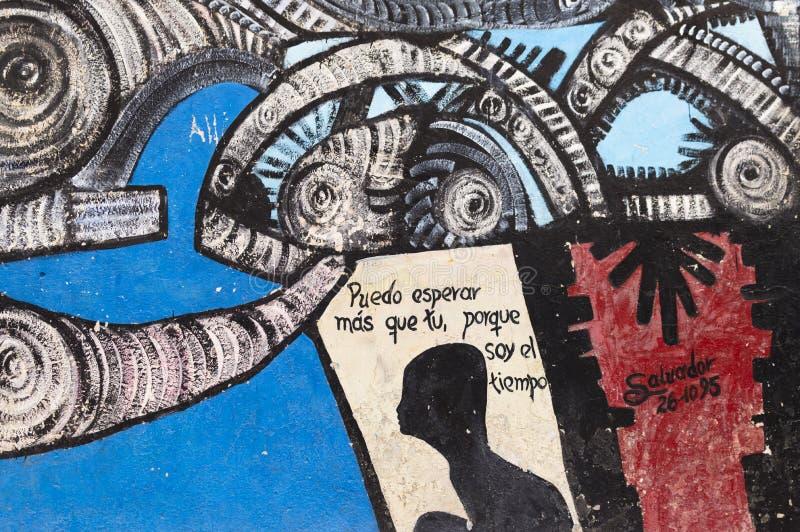 Callejon de Hamel väggmålning, havannacigarr, Kuba royaltyfria bilder