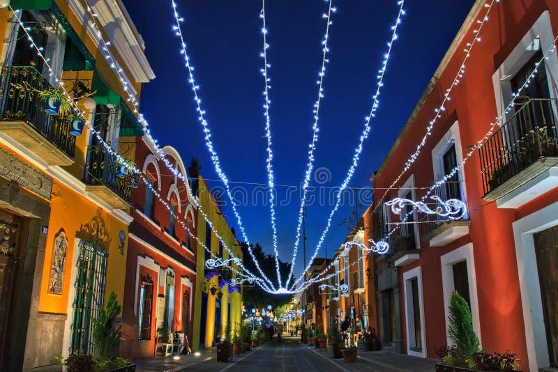 Callejon de Los Sapos - Gasse der Kröten, Puebla, Mexiko stockfoto