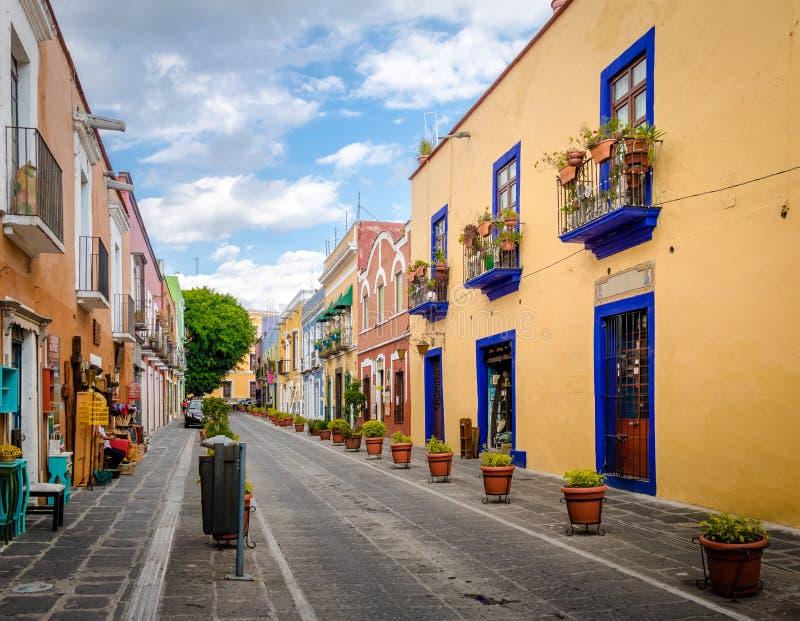 Callejon de los Sapos - Puebla, Mexique photos stock