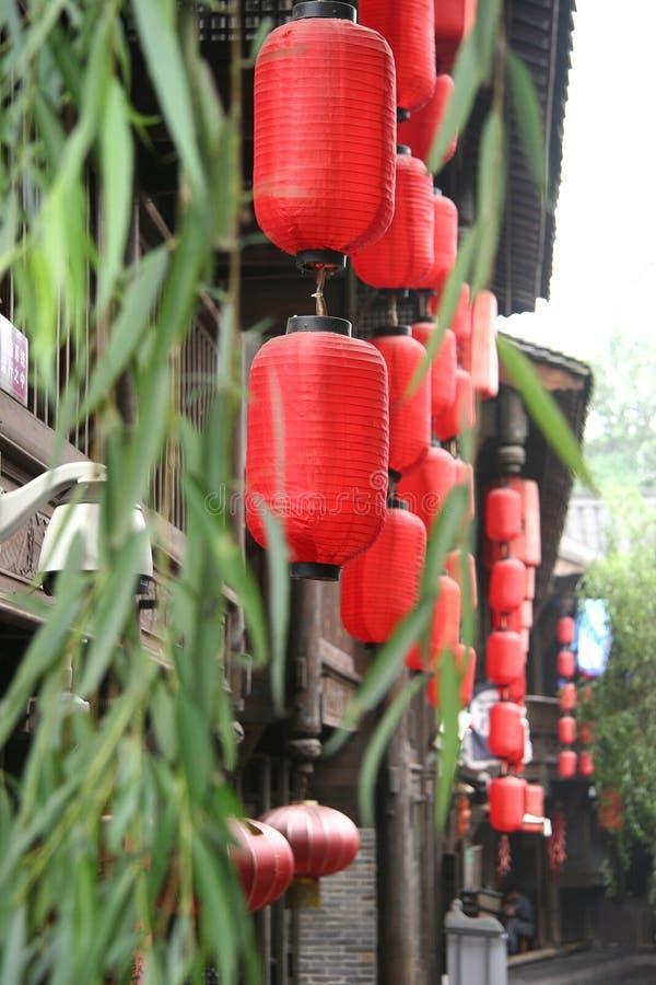 Calles antiguas de Sichuan, China fotografía de archivo