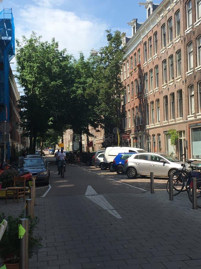 Calles de Amsterdam foto de archivo libre de regalías