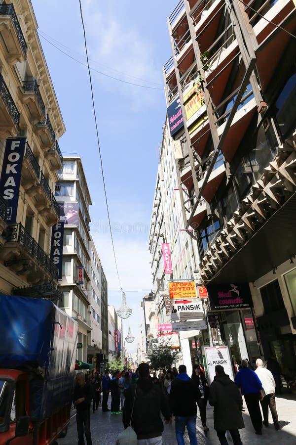 Calles de Atenas - Grecia fotos de archivo