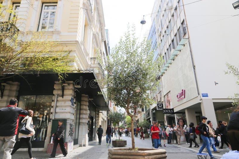 Calles de Atenas - Grecia fotos de archivo libres de regalías