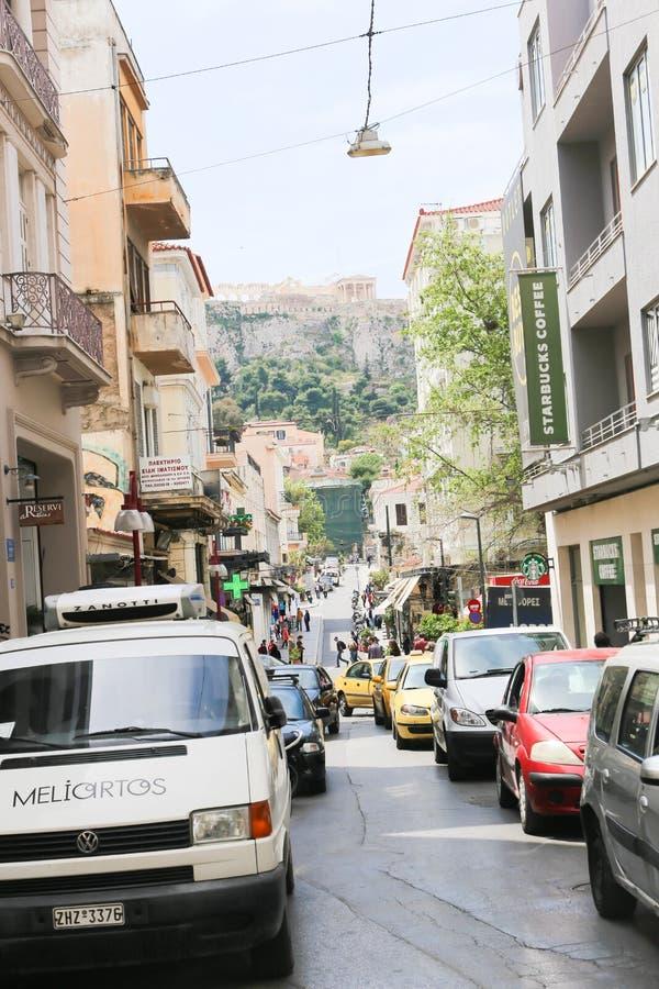 Calles de Atenas - Grecia imagenes de archivo