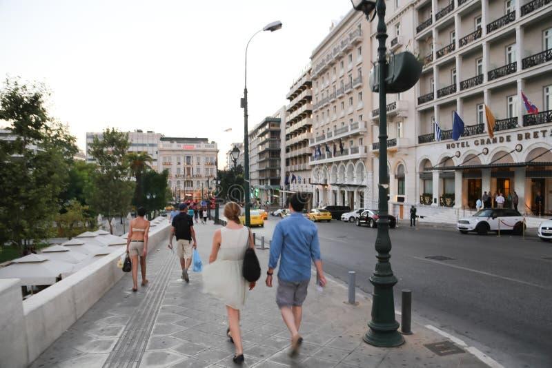 Calles de Atenas - Grecia fotografía de archivo libre de regalías