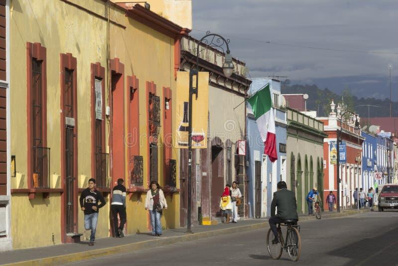 Calles de Cholula fotografía de archivo