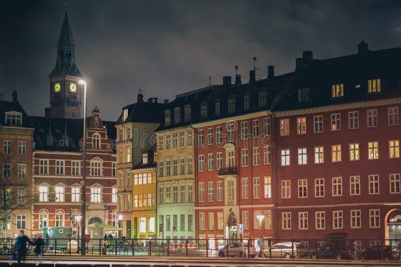 Calles de Copenhague foto de archivo libre de regalías