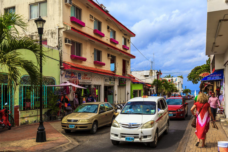 Calles de Cozumel fotos de archivo libres de regalías