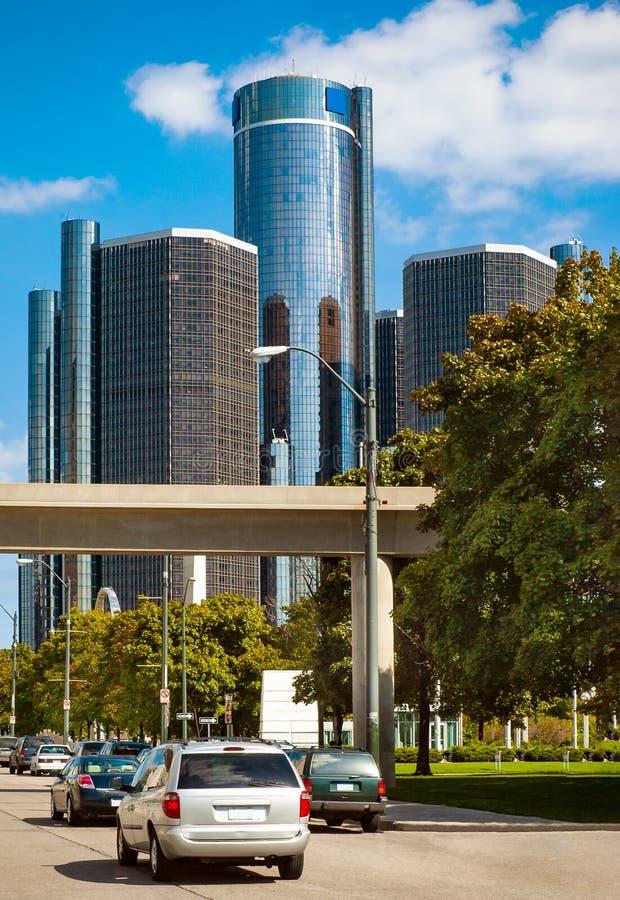 Calles de Detroit céntrica imágenes de archivo libres de regalías