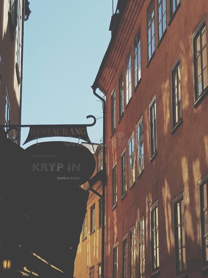 Calles de Estocolmo imagenes de archivo