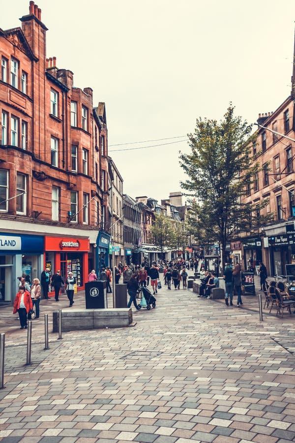 Calles de Falkirk, Escocia, 04 08 2017 foto de archivo