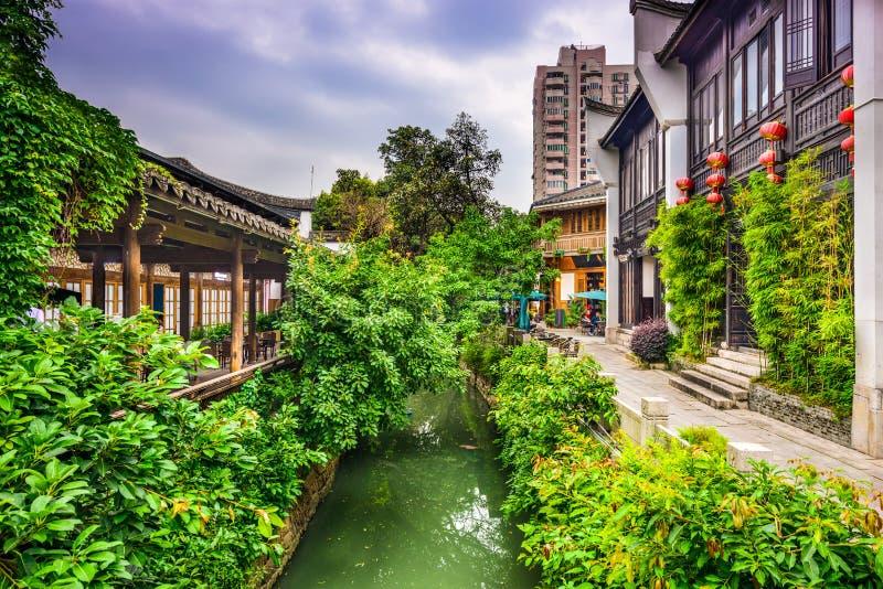 Calles de Fuzhou China foto de archivo