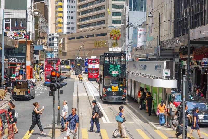 Calles de Hong-Kong fotos de archivo