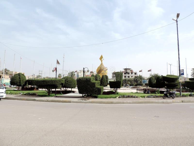 Calles de Kerbala, Iraq foto de archivo