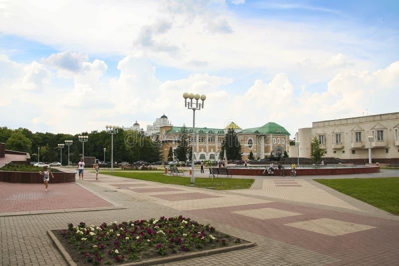 Calles de la ciudad de Belgorod foto de archivo