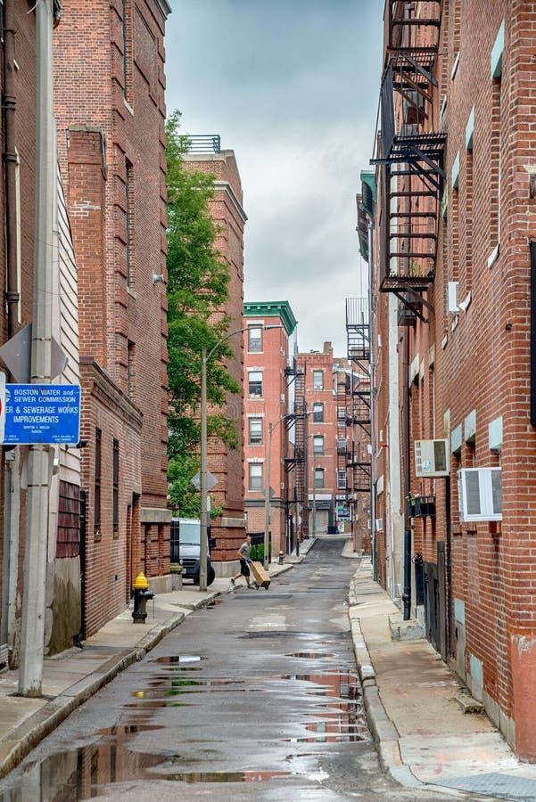 Calles de la ciudad de Boston en los Estados Unidos imagen de archivo libre de regalías