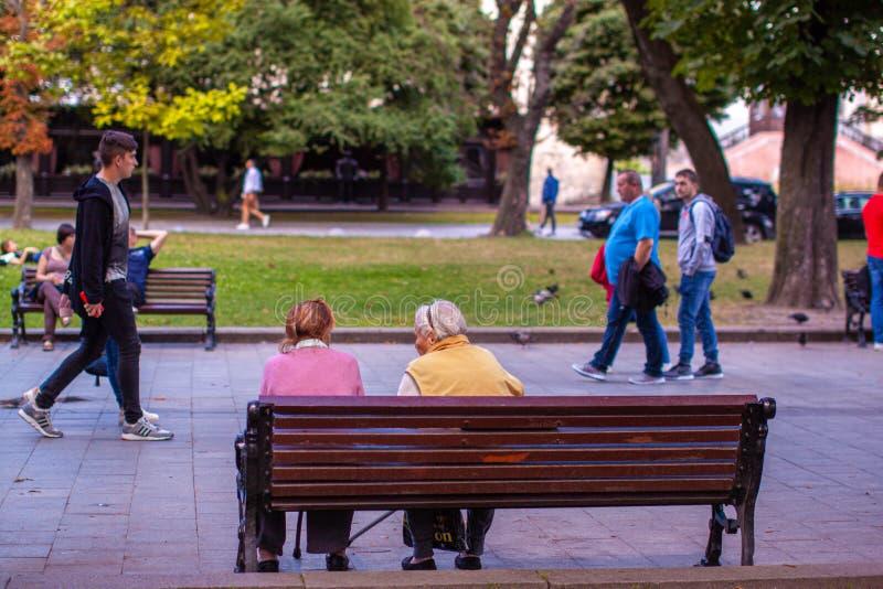 Calles de la ciudad europea vieja Lviv, Ucrania fotografía de archivo