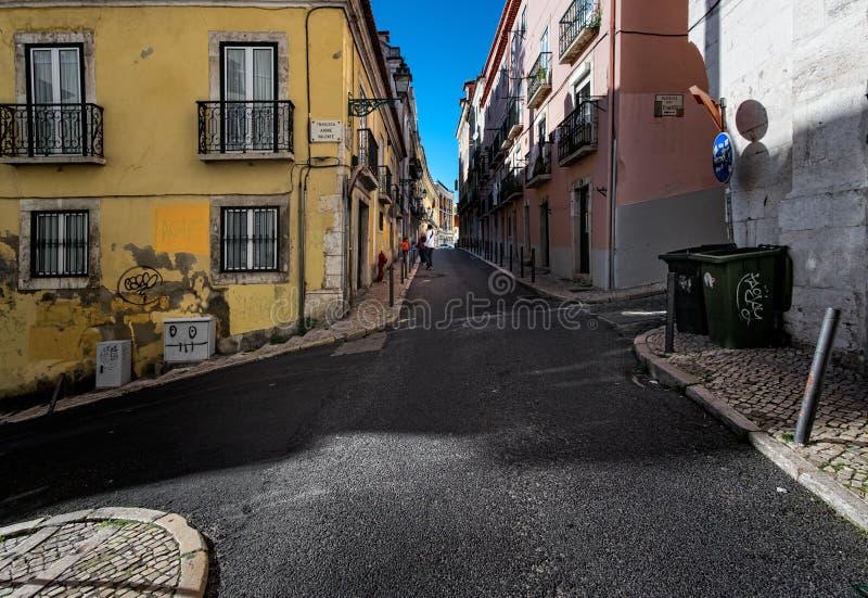Calles de la ciudad de Lisboa portugal imagen de archivo libre de regalías