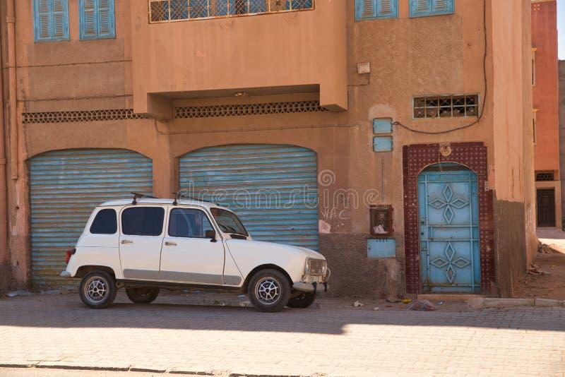 Calles de la ciudad marroquí Tiznit, Marruecos 2017 fotografía de archivo libre de regalías