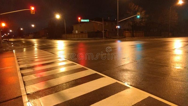 Calles de la noche imagen de archivo