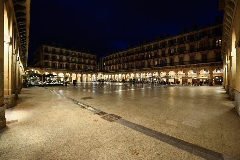 Calles de la tarde de San Sebastián fotos de archivo