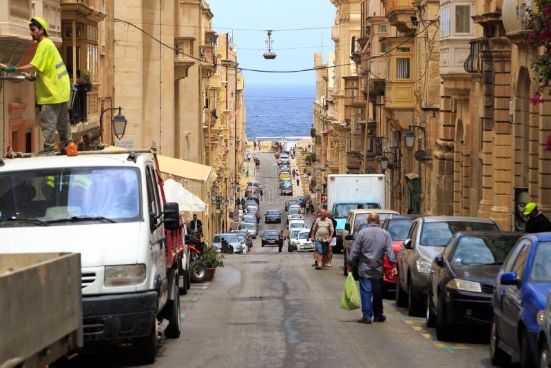 Calles de La Valeta, Malta foto de archivo libre de regalías