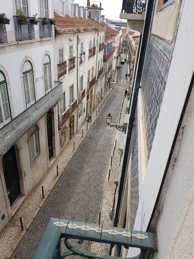 Calles de Lisboa imagenes de archivo