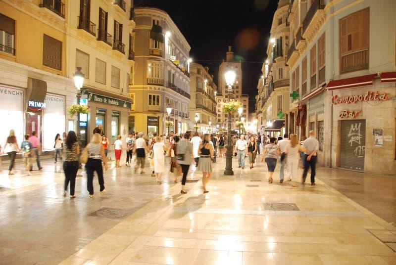 Calles de Málaga fotografía de archivo