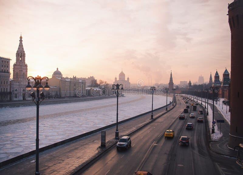 Calles de Moscú imagenes de archivo